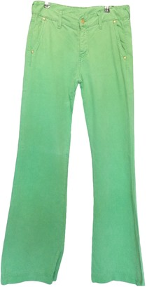Acquaverde Green Cotton Jeans for Women