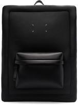 Maison Margiela Black Leather Square Backpack