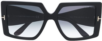 Tom Ford Quinn oversized-frame sunglasses