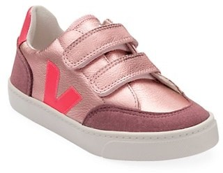 Veja Baby's, Little Girl's & Girl's Metallic Leather Grip-Tape Sneakers