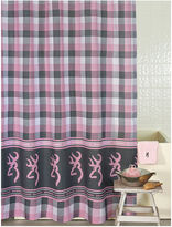 BROWNING Browning Buckmark Plaid Shower Curtain