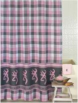 BROWNING Browning Buckmark Plaid Shower Curtain