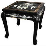 Oriental Furniture Fine Asian Decor 21.5-Inch Claw Foot Chinese Lacquer Oriental End Table