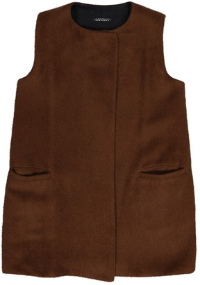 Laura Urbinati Brown Wool Jacket for Women