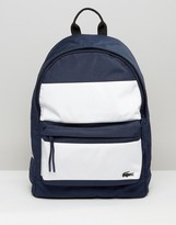 Lacoste Backpack In Color Block