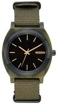 Nixon Women's Time Teller Acetate Nato Strap Watch, 40Mm