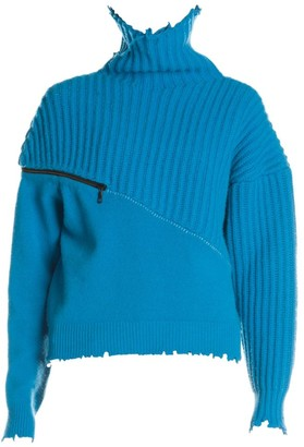 Unravel Project Wool & Cashmere Hybrid Zip Sweater