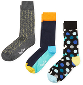 Happy Socks Geometric, Colorblock and Dotted Socks (3 PK)