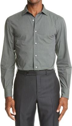 Ermenegildo Zegna Melange Button Up Shirt