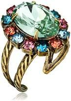 Sorrelli Happy Birthday Radiant Oval Adjustable Ring