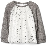 Gap Shimmer star tulle top