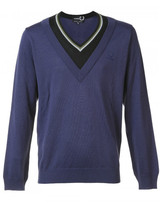 Fred Perry x Raf Simons contrast neck jumper