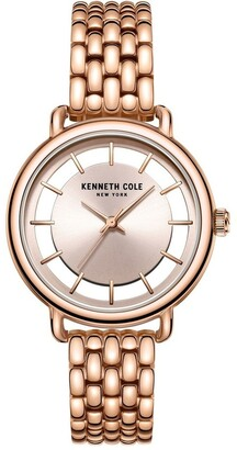 Kenneth Cole KC50790002 Transparency Ladies Rose Gold