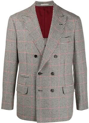 Brunello Cucinelli Houndstooth Double-Breasted Blazer