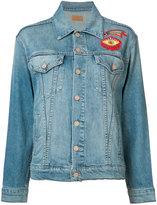 Mother embroidered denim jacket - women - Cotton/Spandex/Elastane - XS