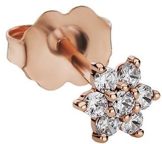 Maria Tash 5.5mm 18kt Rose Gold Diamond Flower Stud Earring
