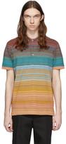 Missoni Orange and Multicolor Striped Polo