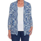 Alfred Dunner Gypsy Moon Long Sleeve Open Front Cardigan