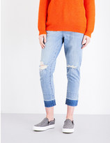 Mo&Co. Ripped high-rise slim-fit jeans