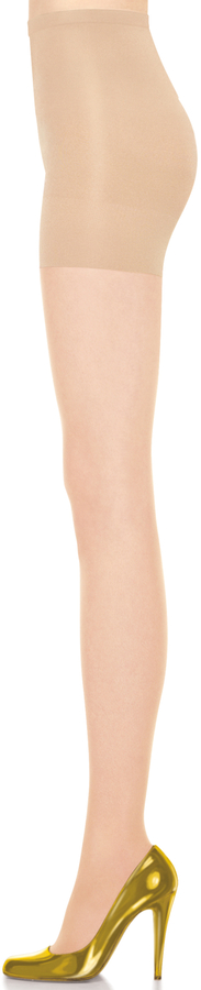 Spanx Stand-Out Lurex Backseam Shorty Shaping Sheers