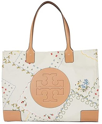 Tory Burch Ella Canvas Floral Tote (Afternoon Tea) Handbags