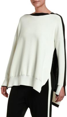 Stella McCartney Colorblocked Cut-Seam Sweater