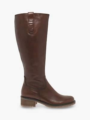 Gabor Stucco Wide Fit Calf Boots, Caramel