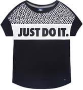Nike Short-Sleeve Just Do It Knit Top - Preschool Girls 4-6x