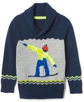 Gap Intarsia ski shawl sweater