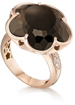 Pasquale Bruni 18K Rose Gold Floral Smoky Quartz Ring with Diamonds