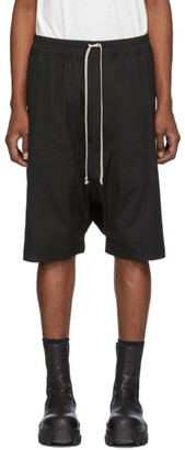 Rick Owens Black Ricks Pods Shorts