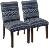 Skyline Furniture Navy Shannon Uptown Side Chairs, Pair
