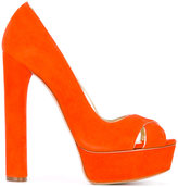 Casadei platform pumps - women - Leather/Suede/Kid Leather - 35