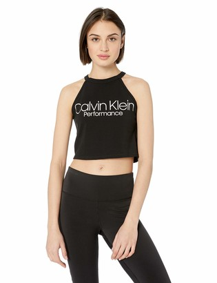 Calvin Klein Women's Halter Neck Crop Top