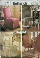 Waverly Butterick 3750 Chair Covers with Variations