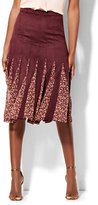 New York & Co. Godet Midi Skirt - Burgundy