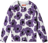 Joe Fresh Toddler Girls' Floral Print Cardigan, Purple (Size 4)