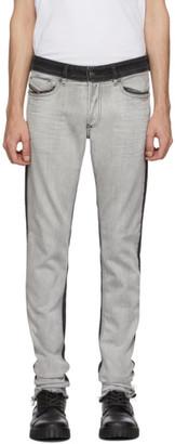 Diesel Black and White Sleenker Jeans