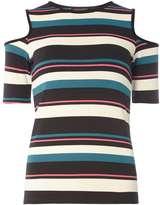 Multi Stripe Tie Sleeve Top
