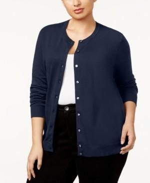 Karen Scott Plus Size Cardigan, Created for Macy's