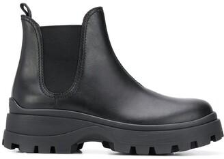 Miu Miu Elasticated-Panel Ankle Boots