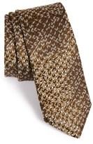 Lanvin Men's Diagonal Herringbone Silk Tie