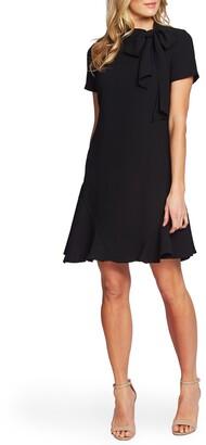 CeCe Bow Neck Short Sleeve Dress