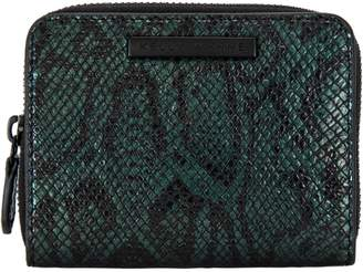 Kelly Wynne Snake Embossed Leather Zip Wallet