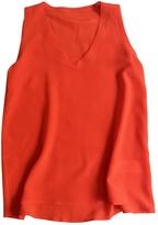 Max Mara Red Silk Top