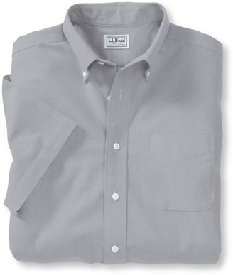 L.L. Bean Men's Wrinkle-Free Classic Oxford Cloth Shirt, Traditional Fit Short-Sleeve