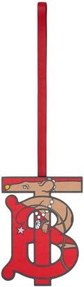 Burberry TB monogram rat motif charm