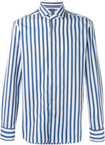 Barba long sleeve stripe shirt - men - Cotton - 39