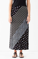 J. Jill Mixed-Print Maxi Skirt