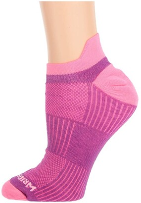 Wrightsock Coolmesh II Tab (Plum/Pink) Low Cut Socks Shoes